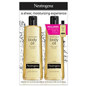 Neutrogena Moisturizing Body Oil Light Sesame Formula, 2 ct. with Bonus 1 fl. oz. Bottle