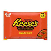 Reeses Peanut Butter Cups Snack Size, 75 ct.