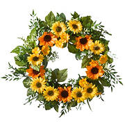 "National Tree Company 18"" Sunflower Wreath"