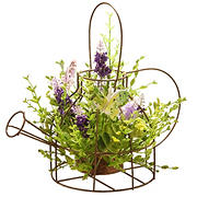 """National Tree Company 11.5"""" Lavender Flowers in Kettle Frame"""