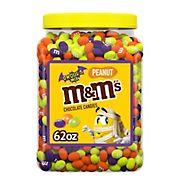 M&M'S Ghoul's Mix Bulk Peanut Chocolate Halloween Candy, 62-Ounce Jar