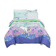 Kidz Mix Magical Unicorn Queen Size Bed in a Bag with Reversible Comforter
