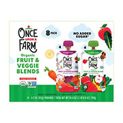 Once Upon A Farm Organic Fruit & Veggie Blends, 8 ct.
