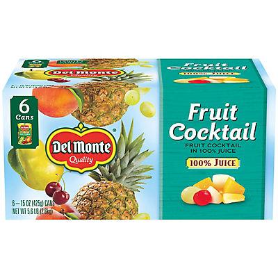 Del Monte Fruit Cocktail in 100% Juice, 6 pk./15 oz.