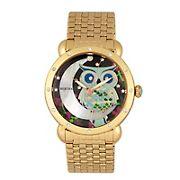Bertha Ashley Mother-of-Pearl Ladies Bracelet Watch - Gold
