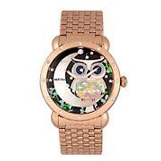 Bertha Ashley Mother-of-Pearl Ladies Bracelet Watch - Rose Gold