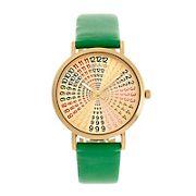 Crayo Fortune Unisex Watch - Gold/Green