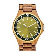Earth Wood Centurion Bracelet Watch - Olive