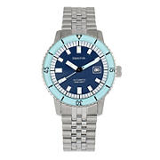 Heritor Automatic Edgard Bracelet Diver's Watch with Date - Light Blue/Navy
