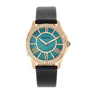 Bertha Donna Mother-of-Pearl Leather-Band Watch - Turquoise
