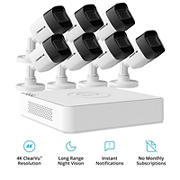 Defender 8-Channel 7-Camera 4K Security System with 2TB HDD DVR