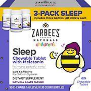 Zarbee's Naturals Children's Sleep Tablets with Melatonin Grape Flavor, 90 ct.
