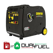 Champion 4,500W Peak/3,500W Rated Portable Dual Fuel Inverter Generator with Quiet Technology