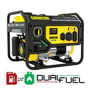 Champion 4,375W Peak/3,500W Rated Dual Fuel Portable Generator