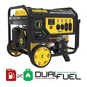 Champion 9,375W Peak/7,500W Rated Dual Fuel Portable Generator with Electric Start