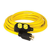 Champion 25-Foot 30-Amp 125/250-Volt Duplex-Style Generator Extension Cord (L14-30P to four 5-20R)