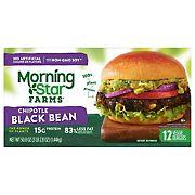 MorningStar Farms Chipotle Black Bean, 12 ct.