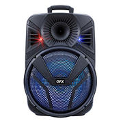 """QFX 15"""" Bluetooth Speaker with Rechargeable Battery and LED Lights"""