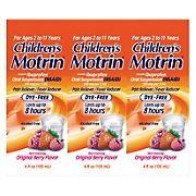 Children's Motrin Ibuprofen Kids Medicine - Berry Flavor, 3 pk./4 fl. oz.