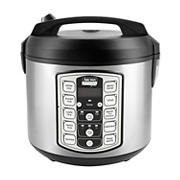 Aroma Professional 5 Qt. Digital Rice and Grain Multicooker, 20-Cup Cooked - Stainless Steel and Black