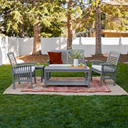 W. Trends 5-Pc. Outdoor Chat Set - 1 Love Seat, 2 Chairs, 1 Coffee Table, 1 Side Table - Gray Wash