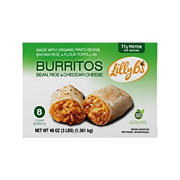 Lilly B's Bean Rice and Cheese Burritos, 8 ct.