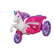 Unicorn Carriage 6V Ride-On - Pink/Purple