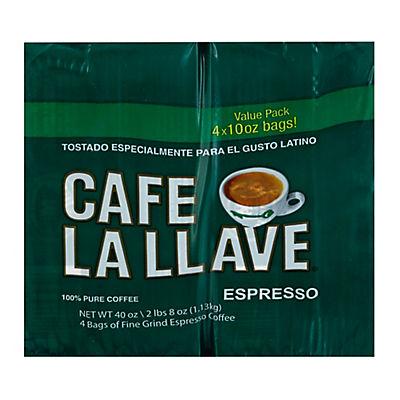 Cafe La Llave Espresso, 10 oz.- 4 pk.