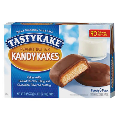 Tastykake Peanut Butter Kandy Kakes, 6 ct./1.33 oz.