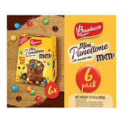 M&M's Bauducco Mini Panettone with Chocolate Chips, 6 pk.
