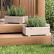 Timber Valley 2-Pc. Dual-Purpose Cedar Garden Planter and Storage Box