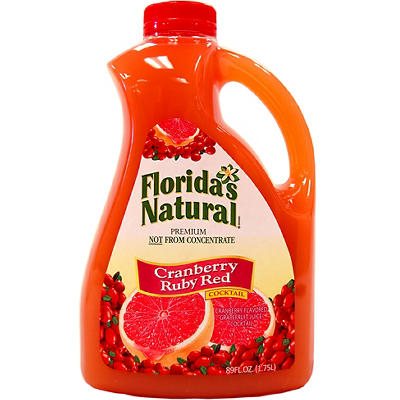 Florida's Natural Cranberry Ruby Red Cocktail, 89 oz.