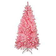 Northlight 7' Pre-Lit Medium Flocked Artificial Christmas Tree - Clear Lights