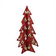 Northlight 2.25' Pre-Lit Slim Tinsel Artificial Christmas Tree - Red Lights