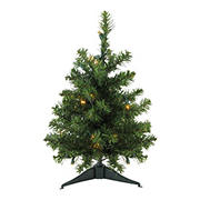 Northlight 1.5' Pre-Lit Medium Canadian Pine Artificial Christmas Tree - Clear LED Lights