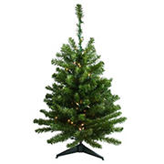 Northlight 3' Pre-Lit Full Canadian Pine Artificial Christmas Tree - Clear Lights
