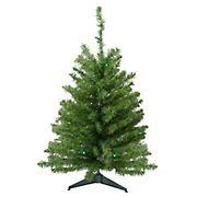 Northlight 3' Pre-Lit LED Medium Canadian Pine Artificial Christmas Tree - Multicolor Lights
