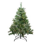 Northlight 4' Pre-Lit Mixed Cashmere Pine Medium Artificial Christmas Tree - Clear Lights