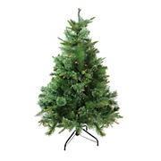 Northlight 4.5' Pre-Lit Full Ashcroft Cashmere Pine Artificial Christmas Tree - Clear Dura-Lit Lights
