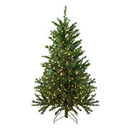 Northlight 4' Pre-Lit Canadian Pine Medium Artificial Christmas Tree - Clear Lights