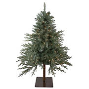 Northlight 4.5' Pre-Lit Full Fairbanks Alpine Artificial Christmas Tree - Clear Lights