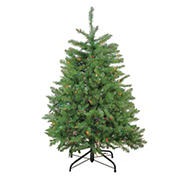 Northlight 4' Pre-Lit Northern Pine Full Artificial Christmas Tree - Multicolor Lights