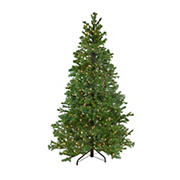 Northlight 6.5' Pre-Lit Medium Pine Artificial Christmas Tree - Clear Dura-Lit Lights