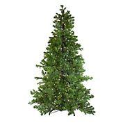 Northlight 6.5' Dual Color LED Light Pre-Lit Medium Layered Pine Instant Power Artificial Christmas Tree