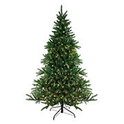 Northlight 6.5' Pre-Lit Medium Instant-Connect Noble Fir Artificial Christmas Tree - Dual LED Lights