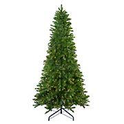 Northlight 7.5' Pre-Lit Slim Eastern Pine Artificial Christmas Tree - Clear Lights