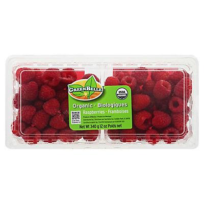 Organic Raspberries, 12 oz.
