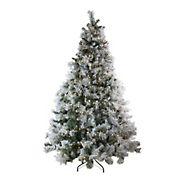 Northlight 7.5' Pre-Lit LED Lights Flocked Victoria Pine Artificial Christmas Tree - Multicolor Lights