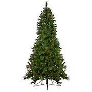 Northlight 7.5' Pre-Lit Slim Canyon Pine Half Wall Artificial Christmas Tree - Clear Lights