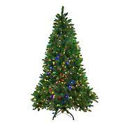 Northlight 7.5' Pre-Lit Medium Huron Pine Artificial Christmas Tree - Dual Color LED Lights